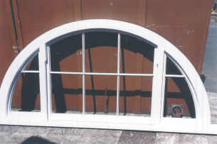Joinery Services - Bespoke Curved Top Hardwood Window